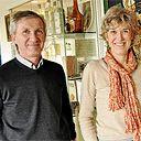 Bruno et Edith Giffard, dirigeants d'une usine de fabrication de sirops et de liqueurs, à Avrille (49)