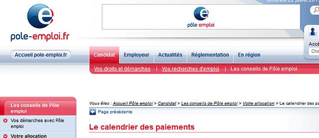 Calendrier Actu Pole Emploi.Www Pole Emploi Fr Calendrier 2016