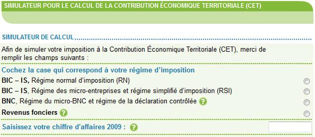 Report pour la déclaration de contribution économique territoriale